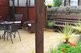 Covered beer garden at the Blacksmiths Arms in Millhouse Green