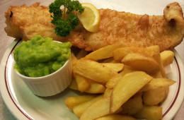 Delicious Fish and Chips at the Blacksmiths Arms, Millhouse Green