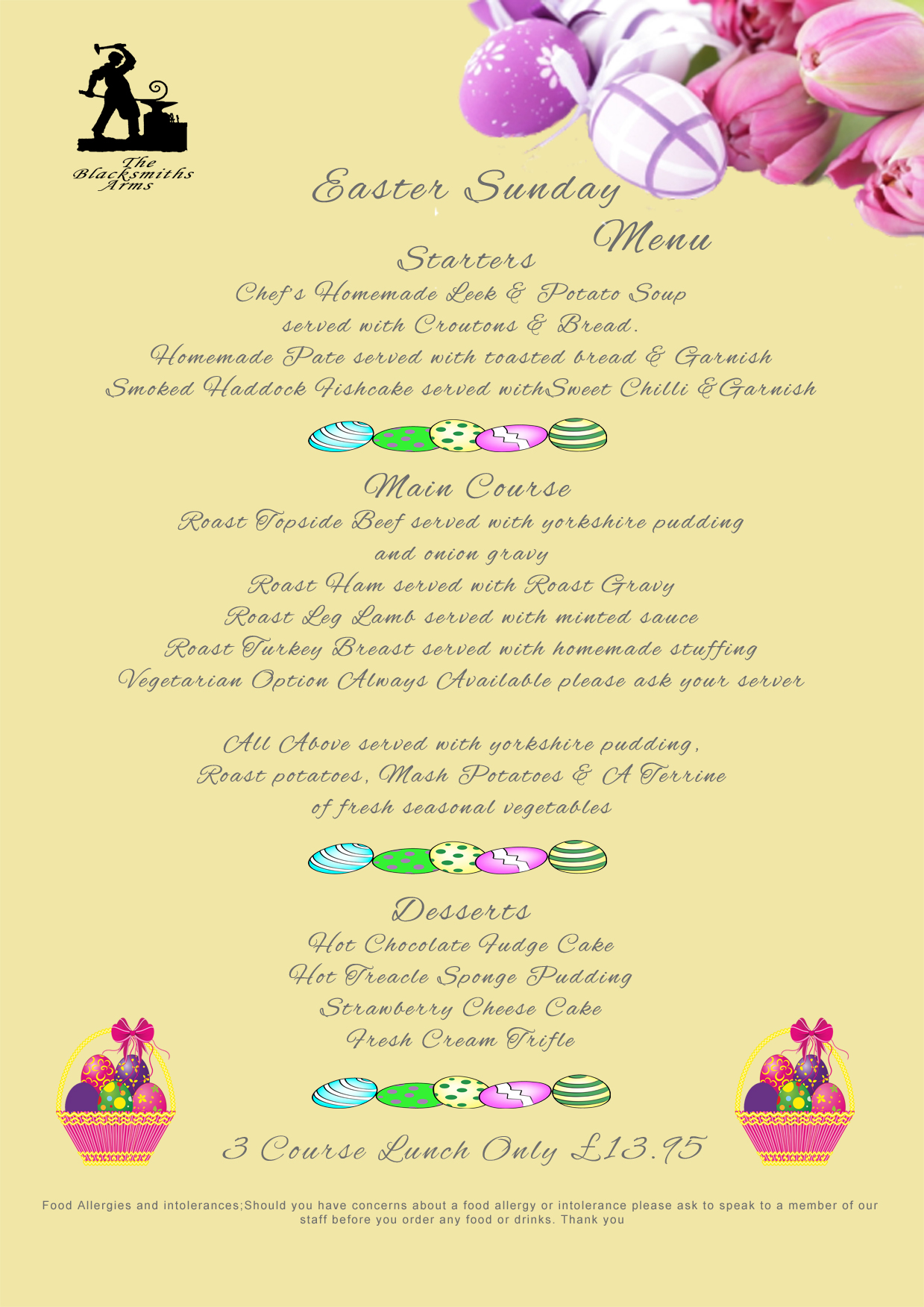 easter sunday menu new